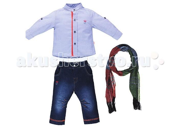 Комплекты детской одежды Bebetto Комплект (рубашка, шарф и джинсы) Boutique Boy для мальчика цена 2017