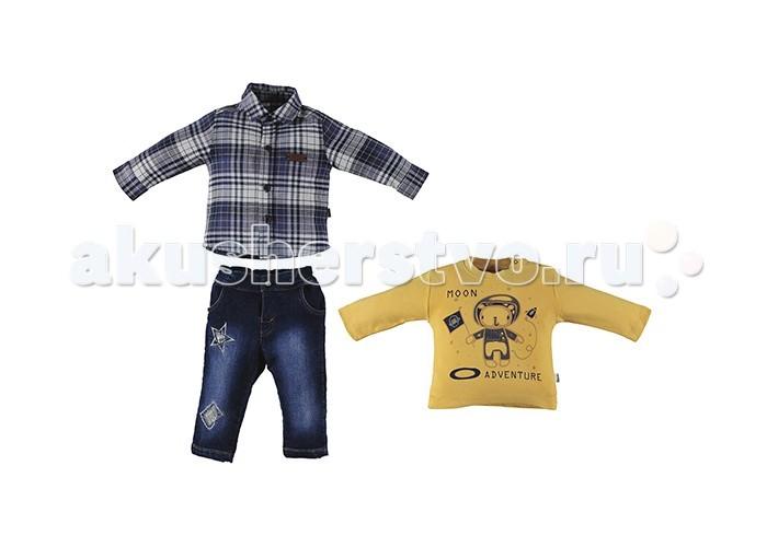 Детская одежда , Комплекты детской одежды Bebetto Комплект (толстовка, рубашка и джинсы) Boutique Boy для мальчика арт: 354645 -  Комплекты детской одежды