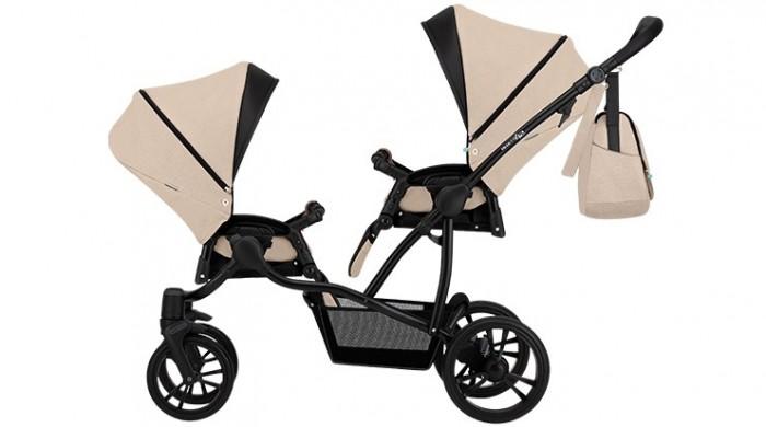 коляски для двойни и погодок hartan коляска для двойни two select Коляски для двойни и погодок Bebetto Прогулочная коляска 42 Sport Сomfort для двойни Черная рама