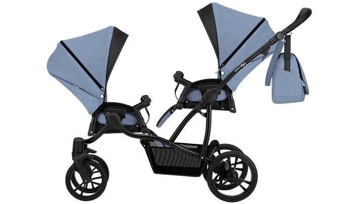 коляски для двойни и погодок Коляски для двойни и погодок Bebetto Прогулочная коляска 42 Sport Сomfort для двойни Черная рама