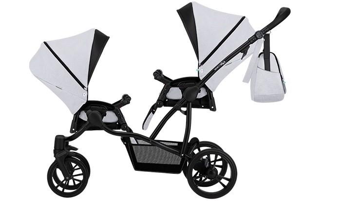 Купить Коляски для двойни и погодок, Bebetto Прогулочная коляска 42 Sport Сomfort для двойни Черная рама