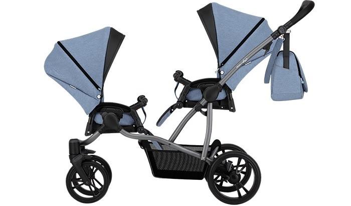 Bebetto Прогулочная коляска 42 Sport Сomfort для двойни Графитовая рама