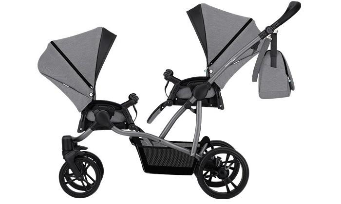 Купить Коляски для двойни и погодок, Bebetto Прогулочная коляска 42 Sport Сomfort для двойни Графитовая рама