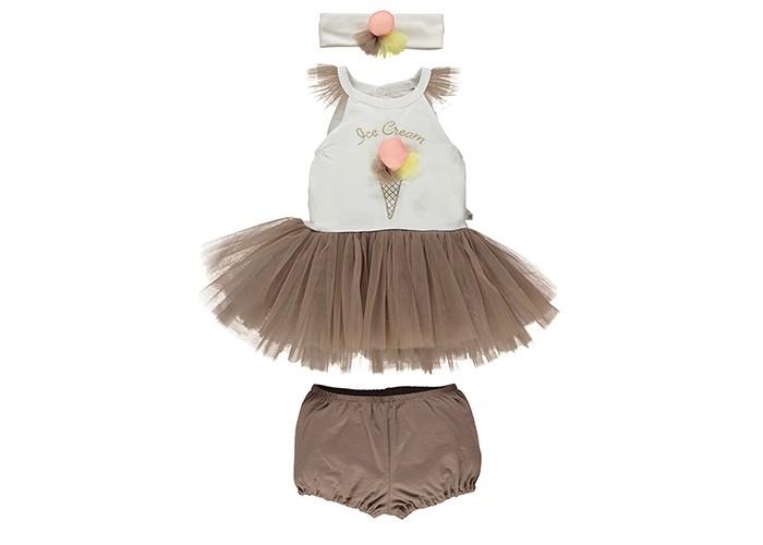 Детская одежда , Комплекты детской одежды Bebetto Комплект одежды для девочки (3 предмета) K 1402 арт: 329765 -  Комплекты детской одежды