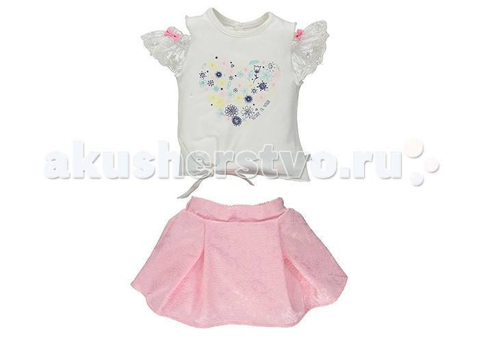 Комплекты детской одежды Bebetto Комплект (футболка и юбка) для девочки K 1413