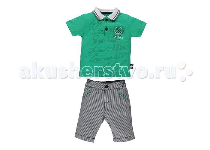 Комплекты детской одежды Bebetto Комплект (футболка-поло и шорты) для мальчика K 1344 комплекты детской одежды rodeng комплект для мальчика r1138