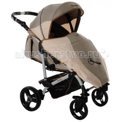 Прогулочная коляска Bebetto (ARO) MagelanMagelanДетская прогулочная коляска Bebetto Magelan - одна из лучших колясок для малышей от 6 месяцев до 3-х лет. Благодаря горизонтальной спинки коляски Bebetto Magelan Ваш малыш сможет спокойно спать на улице во время прогулки. Если Вас застанет дождь далеко от дома, тогда удобный дождевик лучше всего защитит Вашего малыша от сырости и влаги. Также у коляски Bebetto Magelan предусмотрены ремни безопасности с мягкими накладками, а дополнительную защиту обеспечивает бампер, который при желании можно снять.  Коляска Bebetto Magelan имеет большой капюшон, который можно легко и бесшумно снять. Во время регулировки капюшона есть небольшие щелчки, которые не нарушат сладкий сон Вашего малыша. Особый комфорт создаст накидка на ноги, так Вы сможете быть спокойны, что Ваш ребенок в тепле и уюте. Коляска оснащена надежной системой тормозов, а благодаря алюминиевой раме Вы легко сможете поднимать ее на нужный этаж.  Шасси: регулировка высоты родительской ручки в диапазоне 62-102 см от земли задние увеличенные колеса со съемной педалью тормоза пара передних колес с функцией вращения по кругу все колеса легко снимаются пружинные амортизаторы на задней оси багажная глубокая корзина Цвет рамы: серый  Сиденье: многопозиционная спинка раскладывается до 170-180° длина спального места — 90 см мягкие бортики по бокам несколько положений подножки широкий бампер с разделителем ножек 5-титочечные страховочные ремни съемный регулируемый капюшон с отсеком для вентиляции плотный козырек на подкладке  Комплектация Накидка на ноги Дождевик Солнцезащитный козырек Корзина для покупок, из ткани  Вес и размеры: Размеры коляски в разложенном состоянии: 94/59/103 см Размер коляски в сложенном виде с колесами: 90/59/32 см Размер коляски в сложенном виде без колес: 89/58/30 см Длина спального места: 89 см. Ширина сидения: 38 см.<br>