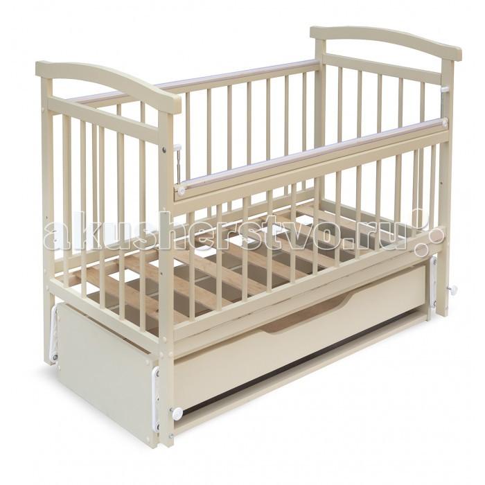 Детская кроватка Бэби Бум Алёнка 4 маятник продольный
