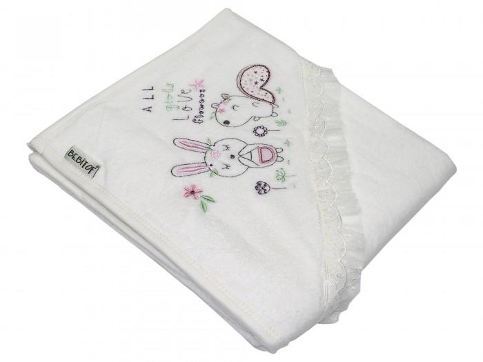 цена на Полотенца Bebitof Baby Детское банное полотенце с уголком BBTF-3244