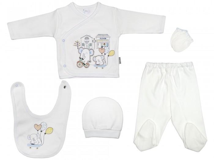 Комплекты детской одежды Bebitof Baby Подарочный набор для новорожденного (5 предметов) BBTF-858 комплекты детской одежды клякса комплект 5 предметов 53 5228