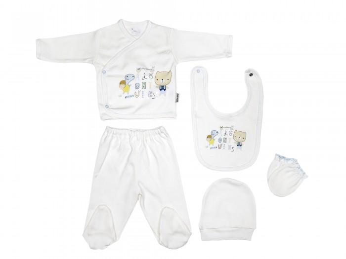 Комплекты детской одежды Bebitof Baby Подарочный набор для новорожденного (5 предметов) BBTF-860 комплекты детской одежды клякса комплект 5 предметов 53 5228