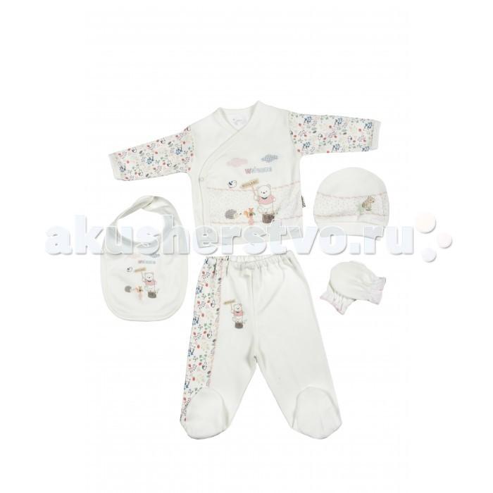 Комплекты детской одежды Bebitof Baby Подарочный набор для новорожденного (5 предметов) BBTF-786 наборы для кормления mii набор для новорожденного 7 предметов