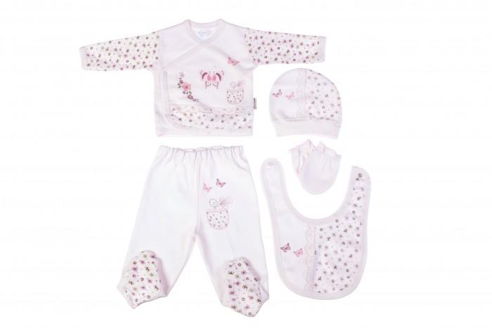 Комплекты детской одежды Bebitof Baby Подарочный набор для новорожденного (5 предметов) BBTF-820 комплекты детской одежды клякса комплект 5 предметов 53 5228
