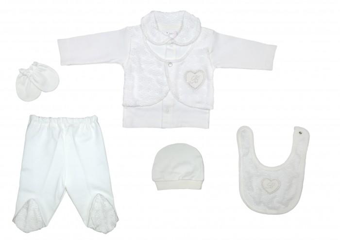 Комплекты детской одежды Bebitof Baby Подарочный набор для новорожденного (5 предметов) BBTF-822 комплекты детской одежды клякса комплект 5 предметов 53 5228