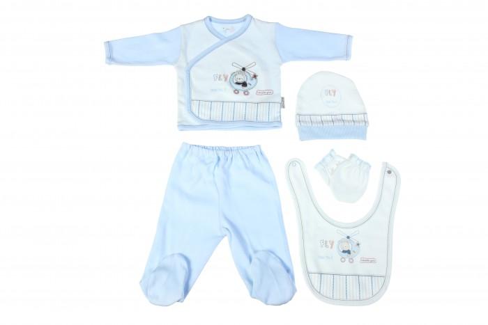 Комплекты детской одежды Bebitof Baby Подарочный набор для новорожденного (5 предметов) BBTF-826 комплекты детской одежды клякса комплект 5 предметов 53 5228