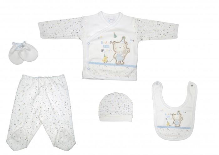 Комплекты детской одежды Bebitof Baby Подарочный набор для новорожденного (5 предметов) BBTF-834 комплекты детской одежды клякса комплект 5 предметов 53 5228
