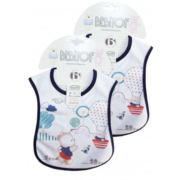 Нагрудники Bebitof Baby Набор слюнявчиков 2 шт. BBTF-021 набор слюнявчиков пома на завяках 7 шт