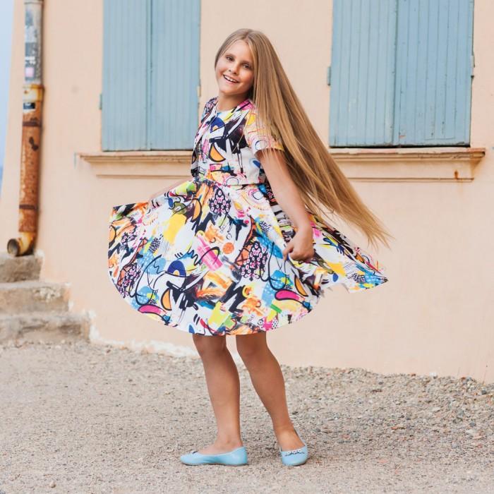Bella Monella Платье для девочки с отстегивающимся подъюбником 204-0015