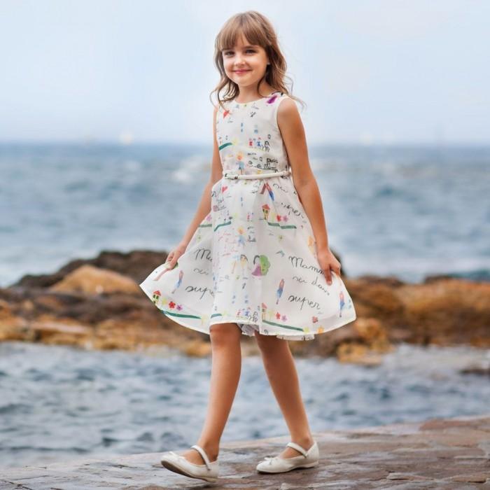 Bella Monella Платье из синтетических волокон на хлопковом подкладе 204-0016 фото