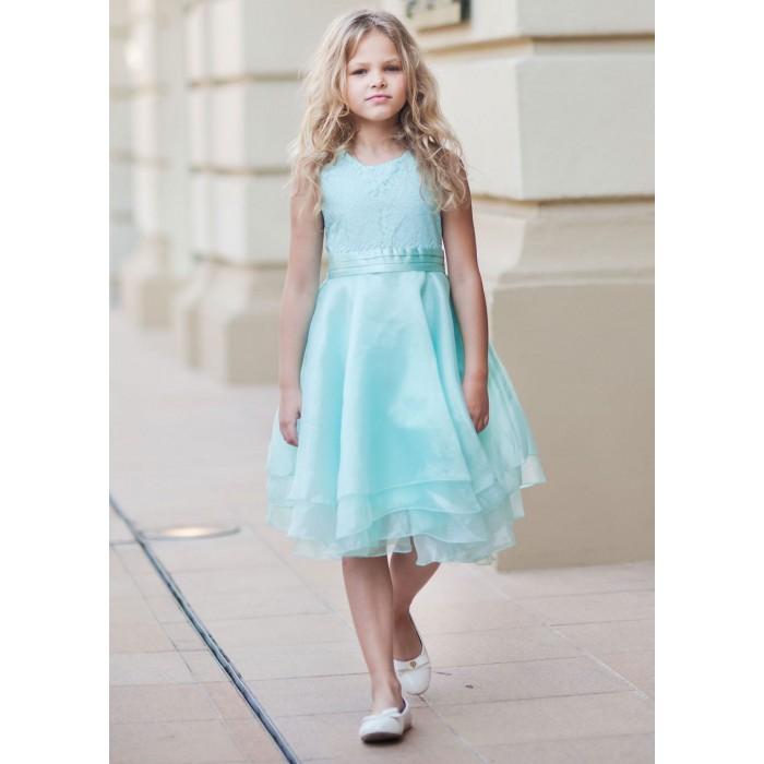 Bella Monella Платье из синтетических волокон на хлопковом подкладе 204-0017 фото