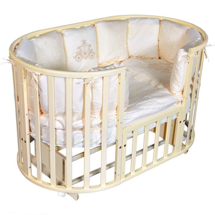 Детские кроватки Bellini Laura Plus 6 в 1 универсальный маятник кроватка антел северянка 3 6 в 1 маятник поперечный колесо круглая 75 75 овал 125 75 белый