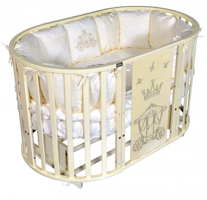 Детские кроватки Bellini Laura Royal 6 в 1 универсальный маятник кроватка антел северянка 3 6 в 1 маятник поперечный колесо круглая 75 75 овал 125 75 белый