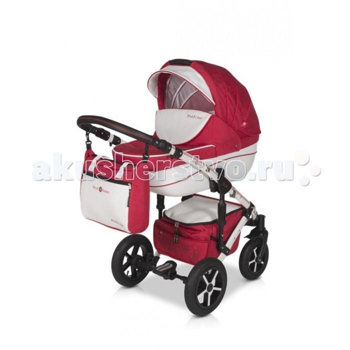 Коляска Bello Babies Mari Ecco Plus 3 в 1Mari Ecco Plus 3 в 1Коляска Bello Babies Mari Ecco Plus 3 в 1 произведена с использованием высококачественной ткани насыщенного цвета.  Но, помимо оригинального дизайна, коляску можно смело назвать высокотехнологичной, так как сделана она из современных материалов, собирается и разбирается без усилий, а также достаточно легкая, что особо ценится в ритме современной жизни.  Комплект коляски 3 в 1 состоит из люльки, прогулочного блока и автокресла.   Люлька: Дно особой формы. Спинка и капюшон регулируются Прогулочный блок: Можно установить реверсивно - в двух направлениях движения. Чтобы малышу было наиболее комфортно, спинка регулируется до наклона лежа. Поэтому ребенку будет удобно гулять в коляске и спать в ней. Для безопасности в коляске предусмотрены защитные ремни и бампер, который можно полностью снять. Капюшон можно полностью сложить, когда в нем нет надобности. А если дует сильный ветер или начинается дождь, капюшон станет надежной защитой ребенка в люльке от непогоды.  В солнечную погоду он убережет от жарких лучей палящего солнца. Окно капюшона выполнено из москитной сетки.  Автокресло: Автокресло поможет безопасно перевозить малыша в автомобиле,  Чехол и капюшон в комплекте не позволят замерзнуть малышу или перегреться под солнцем.  Шасси: Рама коляски выполнена из легкого и прочного алюминия.  Она легко складывается, при этом пружинная амортизация очень прочная.  Коляска маневренная и имеет плавный ход за счет передних колес – они поворотные.  А большие задние колеса позволят ездить коляске по самым труднопроходимым местам.  В большой и просторной корзине на шасси можно сложить необходимые на прогулке игрушки и вещи. Ширина шасси: 60 см Компактное складывание книжкой В комплекте: сумка для мамы дождевик москитная сетка муфта зонтик  накидка на ножки для люльки накидка на ножки для прогулочного блока непромокаемая пеленка подстаканник Размеры в разложенном виде: 1.0 x 0.58 x 1.26 м Размеры в сложенном виде рама с ко