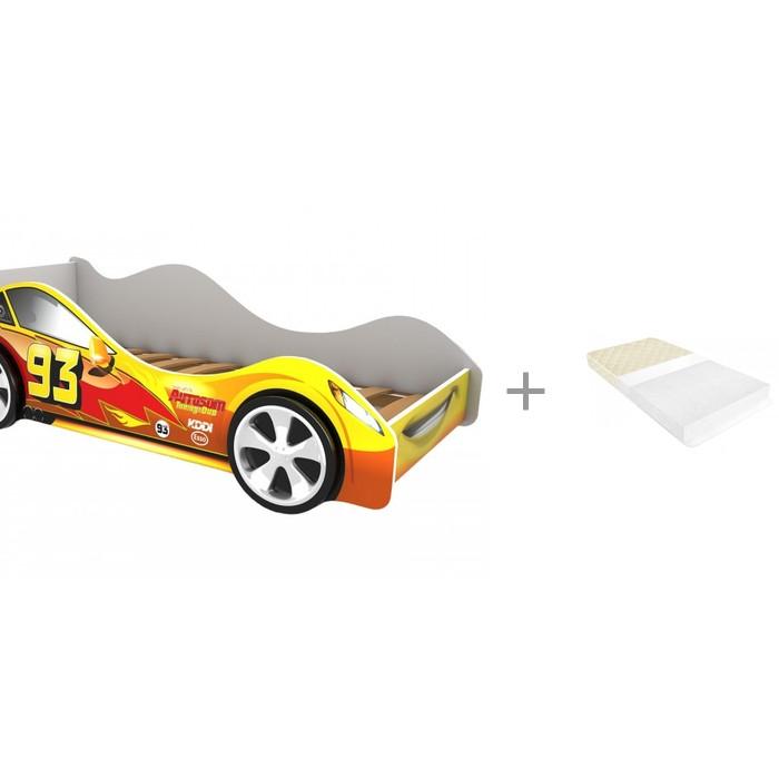 Кровати для подростков Бельмарко машина Тачка с матрасом BabyElite Standart Eco 70 х 160 х 10 см