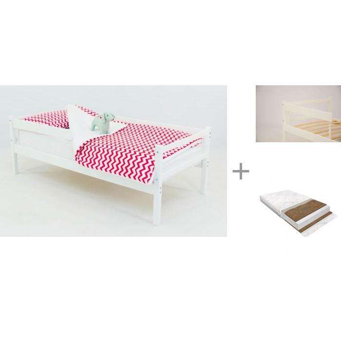 Кровати для подростков Бельмарко тахта Skogen с бортиком для кровати Skogen classic и матрасом Baby Elite Optima 160х70 см