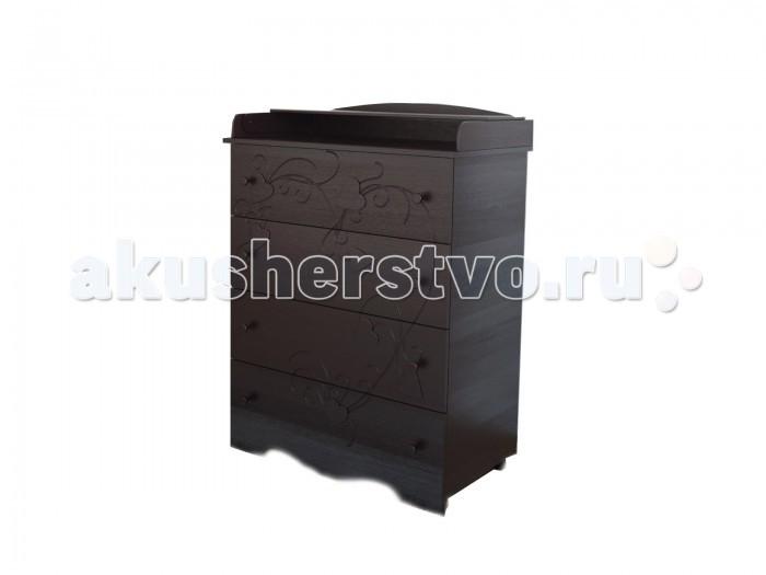 Комод Берегиня Анечка пеленальный (4 ящика)
