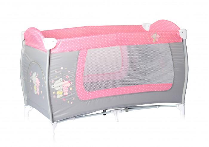 Манеж Bertoni (Lorelli) Danny 1Danny 1Манеж-Кровать Bertoni (Lorelli) Danny 1 для детей от 6 мес. до 3 лет.   Особенности: Яркие расцветки, приятны для мамы и малыша Манеж безопасен для игр и сна малыша, надежная установка и безопасность  Размеры манежа 120 х 60 х 72 см вес 8.4 кг Манеж имеет боковой лаз на молнии, легкую систему складывания и раскладывания Сумку - чехол для переноски манежа  Матрасик в комплекте на дно манежа.<br>