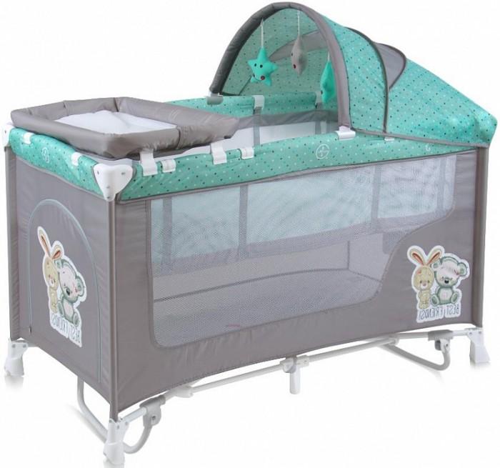 Манеж Bertoni (Lorelli) Danny 2 RockerМанежи<br>Манеж-Кровать Bertoni (Lorelli) Danny 2 Rocker для детей от 0 мес. до 3 лет.   Особенности: Верхний уровень с рождения и до 6 мес., в комплекте идет пеленальник с рождения и до 3 мес Защитный козырек с навесными игрушками  Дуги для укачивания малыша Надежные пластиковые крепления Два колеса с фиксацией Яркие расцветки, приятны для мамы и малыша Манеж безопасен для игр и сна малыша, надежная установка и безопасность Размеры манежа 120 х 60 х 72 см Вес 10.6 кг Манеж имеет боковой лаз на молнии, легкую систему складывания и раскладывания  Сумку - чехол для переноски манежа  Матрасик в комплекте на дно манежа.