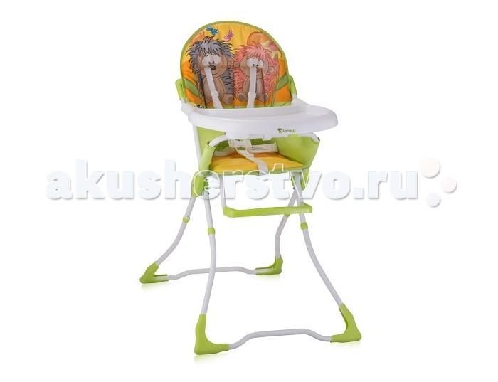 Стульчик для кормления Bertoni (Lorelli) CandyCandyСтульчик для кормления Bertoni (Lorelli) Candy   Нерегулируемый стульчик для кормления Bertoni Candy пригодится для малыша начиная с того момента, когда он научится самостоятельно сидеть, и вплоть до 3 лет. Стул можно также использовать в качестве уютного места для игр ребенка, где он сможет развлекаться в то время, когда мама будет заниматься приготовлением пищи.   Особенности: Красочные яркие расцветки стульчика привлекают внимание ребенка, способствуют развитию благоприятного психоэмоционального восприятия Прочную столешницу, выполненную из высококачественного и абсолютно безопасного для детей пластика, при загрязнении можно легко снять и помыть Удобное просторное сиденье оснащено чехлом из ПВХ, который также снимается и моется  Сиденье в Bertoni Candy очень комфортное, мягкое, как и его высокая спинка, поэтому ваше любимое чадо будет чувствовать себя в таком замечательном стульчике как нельзя лучше Кроме того, предусмотрена подножка для удобного расположения ножек малыша. Для безопасности малыша во время принятия пищи, в стуле предусмотрены пятиточечные страховочные ремни, надежно удерживающие в плечах и между ножек маленькую егозу от случайного выпадения.  Простой, недорогой, и в то же время практичный стульчик для кормления Bertoni Candy имеет легкую и быструю систему сложения, а в сложенном виде занимает очень мало места, поэтому его с успехом можно брать с собой в гости или в путешествие. Купить легкий и компактный детский стульчик – значит существенно облегчить маме процесс кормления.<br>