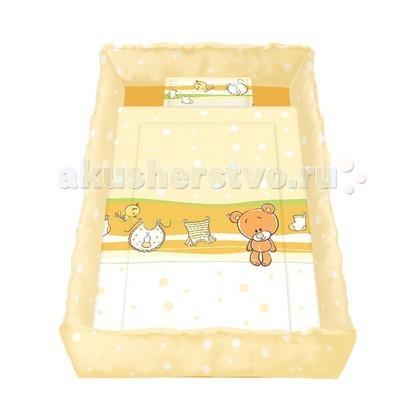 Комплект в кроватку Bertoni (Lorelli) Lily (5 предметов)Lily (5 предметов)Постельное белье для новорожденных Lily.  В комплекте: 4 высокие защитные боковинки на завязочках (70х30 см - 2шт, 140х30 см - 2 шт.) 1 одеяло 100х140 см 1 подушечка 35х45 см 1 простыня 100х145 см 1 наволочка 35х45 см  Материал - 100 % хлопок. Наполнитель - синтепон, не вызывает аллергию. Постель можно стирать и в машинке при Т 30 С.  Рисунки комплектов в ассортименте!<br>