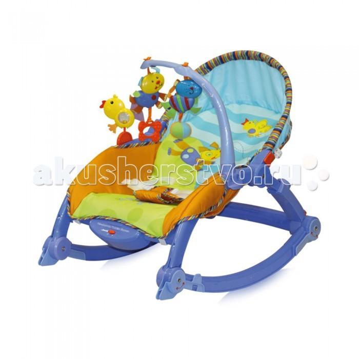 Bertoni (Lorelli) Шезлонг-качалка 3 в 1 Chill OutШезлонг-качалка 3 в 1 Chill OutШезлонг с игрушками Chill Out отлично подходит для малышей от рождения.  Особенности: Ремни обеспечат безопасность вашего малыша 3 уровня наклона спинки Функция качания с возможностью фиксации в неподвижном положении Вибро-функция успокоит вашего малыша Козырек защитит ребенка от солнечных лучей, что позволяет использовать шезлонг и на улице в летнюю погоду Кронштейн с забавными игрушками развлечет малыша Подходит для детей до 15 кг  Размеры: 64 x 48 x 53 см Вес: 4 кг<br>