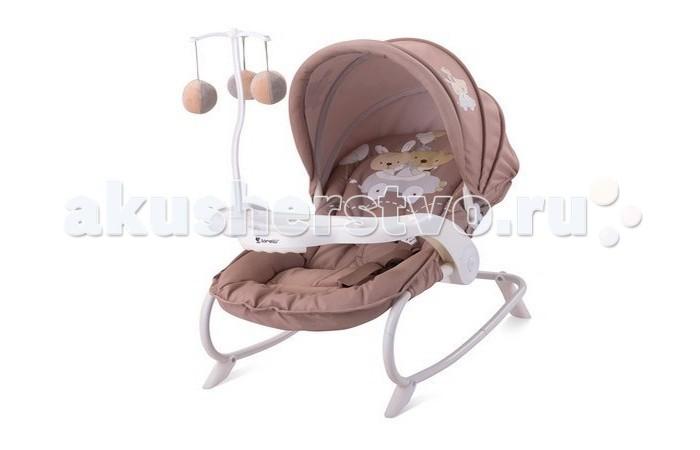 Bertoni (Lorelli) Шезлонг Dream TimeШезлонг Dream TimeBertoni Dream Time - детский шезлонг с игрушками для малышей от рождения до 9 месяцев (или весом до 9 кг) идеально подходит для отдыха и игр Вашего крохи.   Шезлонг обладает релаксирующим эффектом, благодаря функции качания, которую также можно заблокировать для использования шезлонга как стульчика для малыша. Трехточечные ремни безопасности с широкой мягкой перемычкой между ножек защитят от опасности падения даже самых суетливых малышей.   Мультипозиционная регулируемая спинка, удобное анатомическое сидение и мягкое изголовье позволяют малышу чувствовать себя абсолютно комфортно.   Детская качалка-шезлонг может быть установлена на улице или дома — для защиты от солнечных лучей предусмотрен регулируемый капюшон.   Благодаря компактности и небольшому весу, кресло-качалку можно использовать как переносную детскую люльку в квартире (за счет маленького веса в этом плане выигрывает перед детским автокреслом и коляской). На кресле-качалке установлен столик с подвесной игрушкой, которая не даст ребенку скучать.  Особенности:  кресло-качалка для сна и игры, мультипозиционная спинка, легкий и компактный, съемная тканевая часть, функция покачивания, стопоры для жесткой фиксации, солнцезащитный капор, столик для кормления подвесные игрушки благодаря функции качения обладает релаксирующим эффектом Яркая расцветка ткани, благотворно влияющая на психоэмоциональное состояние ребенка Он позволяет развивать у ребенка зрительную и двигательную координацию. Аксессуары можно использовать и отдельно, как обычные игрушки или погремушки. Кроме того очень удобен, можно использовать как переноску по квартире<br>