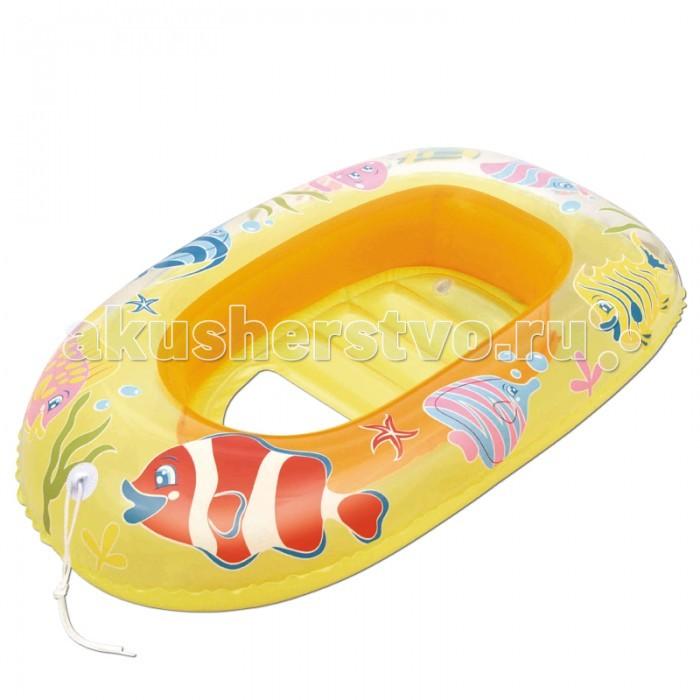 Матрасы для плавания Bestway Надувная лодочка Рыбки 112х71 см