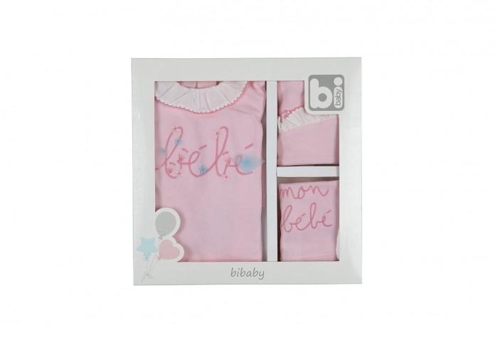 Комплект на выписку Bibaby для девочки 5 предметов 62116