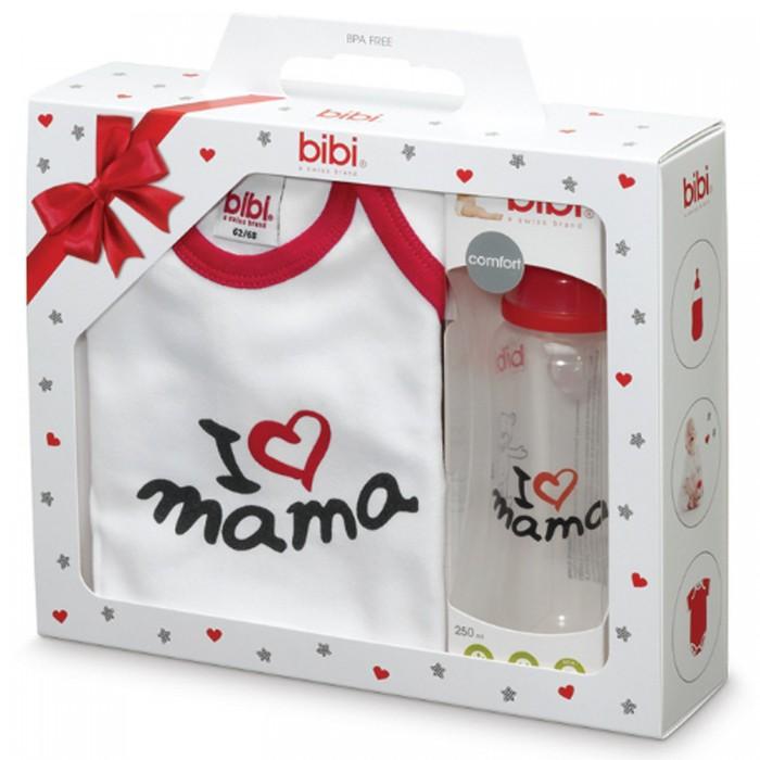 Bibi Боди и бутылочка 250 мл I love Mama
