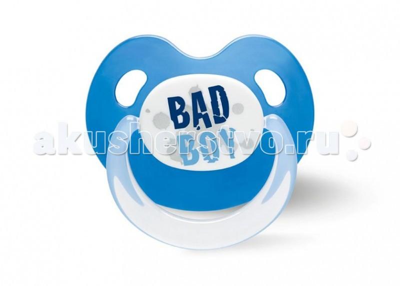 Пустышки Bibi Dental BasicCare Drama Queen/Bad Boy Дневная силикон 0-6 мес. bibi пустышка natural basiccare дуо коллекция 6 силиконовая 0 6 месяцев 2 шт