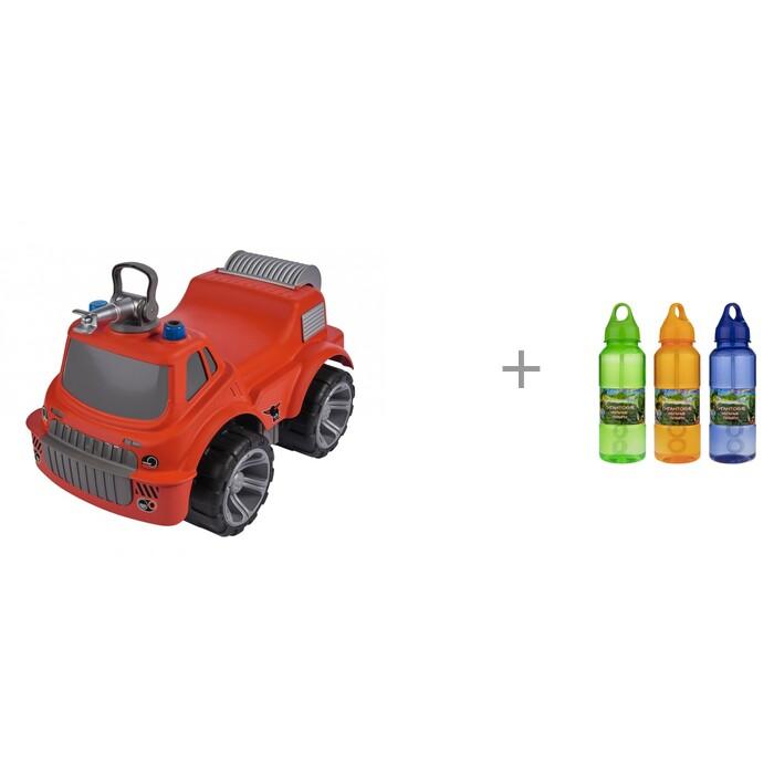 Каталки BIG Пожарная машина Power worker maxi с водой и 1 Toy Мы-шарики Гигантские мыльные пузыри