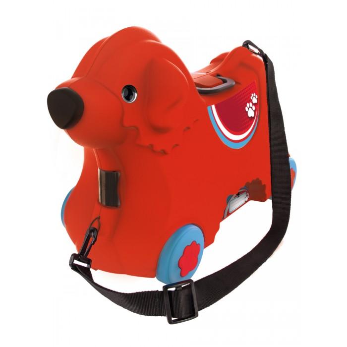 BIG Детский чемодан на колесикахДетский чемодан на колесикахBIG Детский чемодан на колесиках сделает путешествие ребенка удобным и увлекательным. Чемодан выполнен из прочного пластика и выдерживает вес  ребенка до 50 кг. Широкие колеса и мягкие уши, за которые можно держаться, обеспечивают дополнительную безопасность при катании на чемодане. Регулируемый и съемный ремень позволяет либо катить чемодан, либо нести его на плече. Чемодан закрывается путем поворота носа собачки. Внутри чемодана доступен объем размером 15 литров. Под ушами спрятаны тайные отсеки, в которые удобно положить мелкие элементы, что бы они не разлетелись по всему чемодану.  Размер соответствует размерам для ручной клади большинства авиакомпаний. Сделано в Германии!  Размер чемодана: 50.5х23х34.5 см<br>