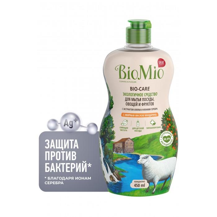 Детские моющие средства BioMio Средство для мытья посуды, овощей и фруктов с эфирным маслом 450 мл средство для мытья посуды овощей и фруктов biomio с эфирным маслом мяты 450 мл