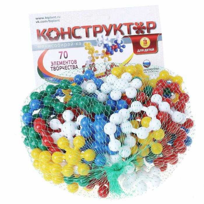 Конструктор Биплант Мини Собирай-ка (70 элементов)