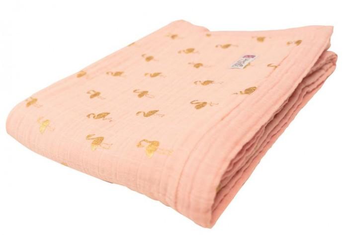 Купить Одеяла, Одеяло Bizzi Growin Gold Flamingo муслин 3 слоя 135х110 см