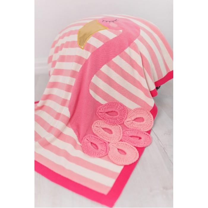 Купить Пледы, Плед Bizzi Growin Одеяло Flamingo с аппликацией 90х70 см