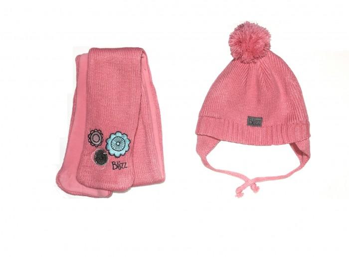 Шапки, варежки и шарфы Blizz Комплект для девочки (шапка и манишка) BLI1804