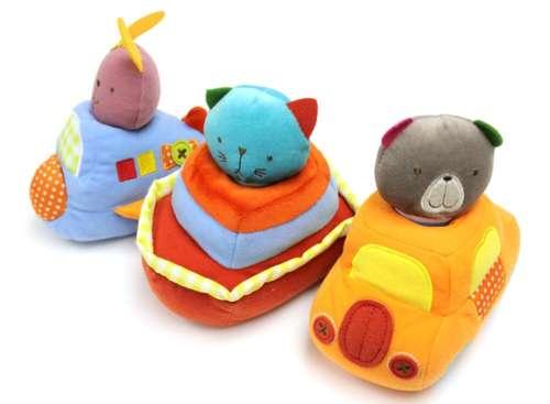 Развивающие игрушки Bobbie & Friends Плюшевый транспорт с пищалкой фигурки игрушки prostotoys пупсень серия лунтик и его друзья