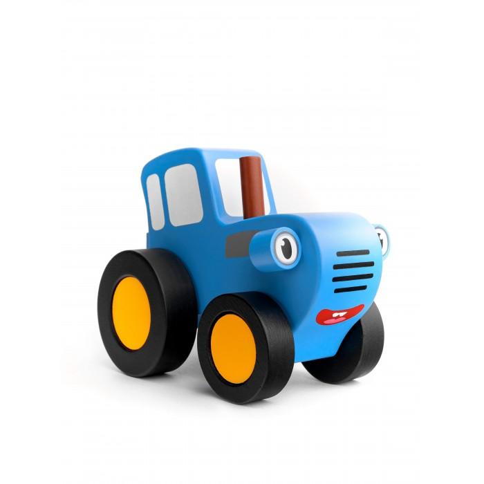 Деревянная игрушка BochArt Синий Трактор