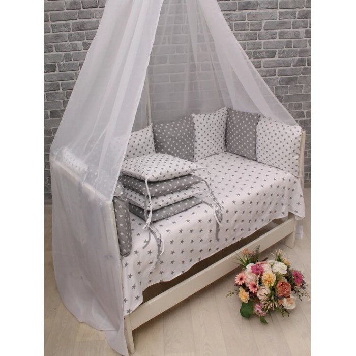Бортик в кроватку Body Pillow Звездочки